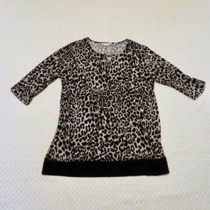 Christopher & Banks Leopard Print Shirt (A18)